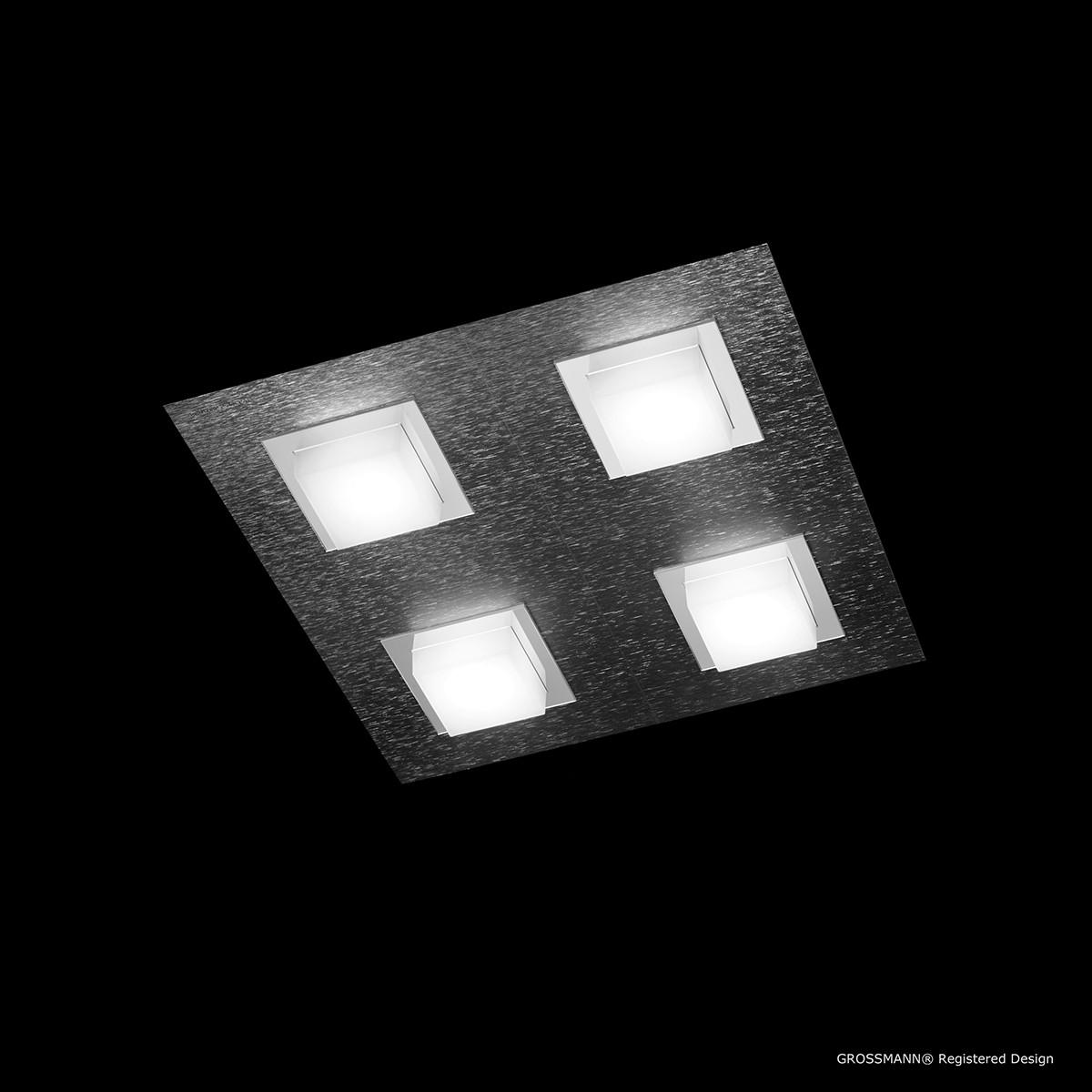 Grossmann Basic Wand- / Deckenleuchte 4-flg., anthrazit