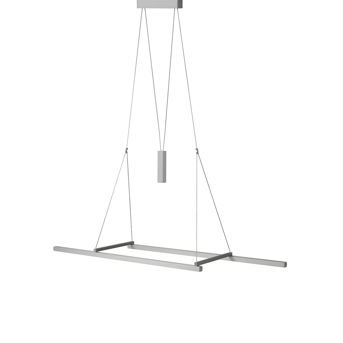 Byok Squadra Pendelleuchte, Länge: 75 cm, Aluminium matt