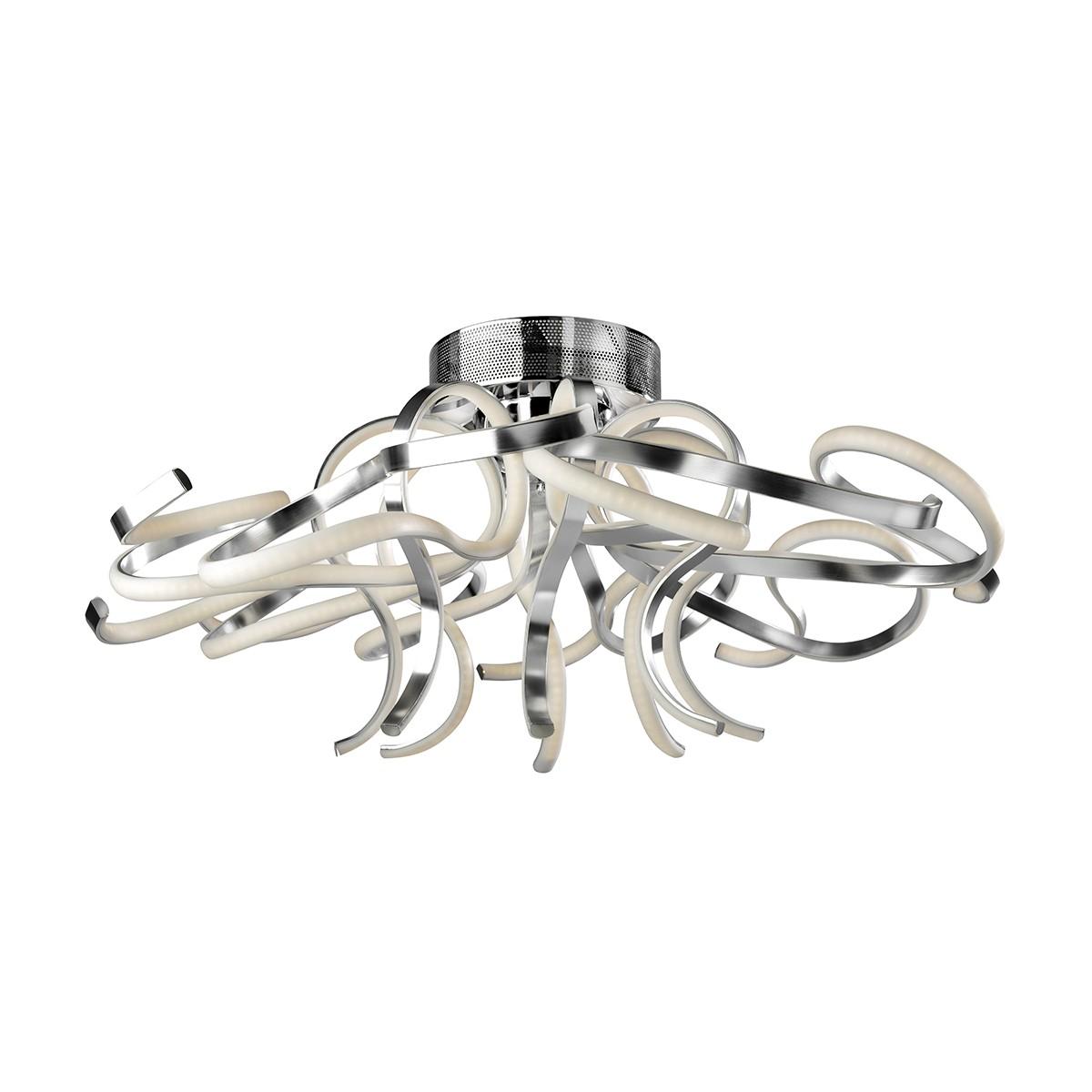 Sompex Weed LED Deckenleuchte, Ø: 80 cm, Aluminium