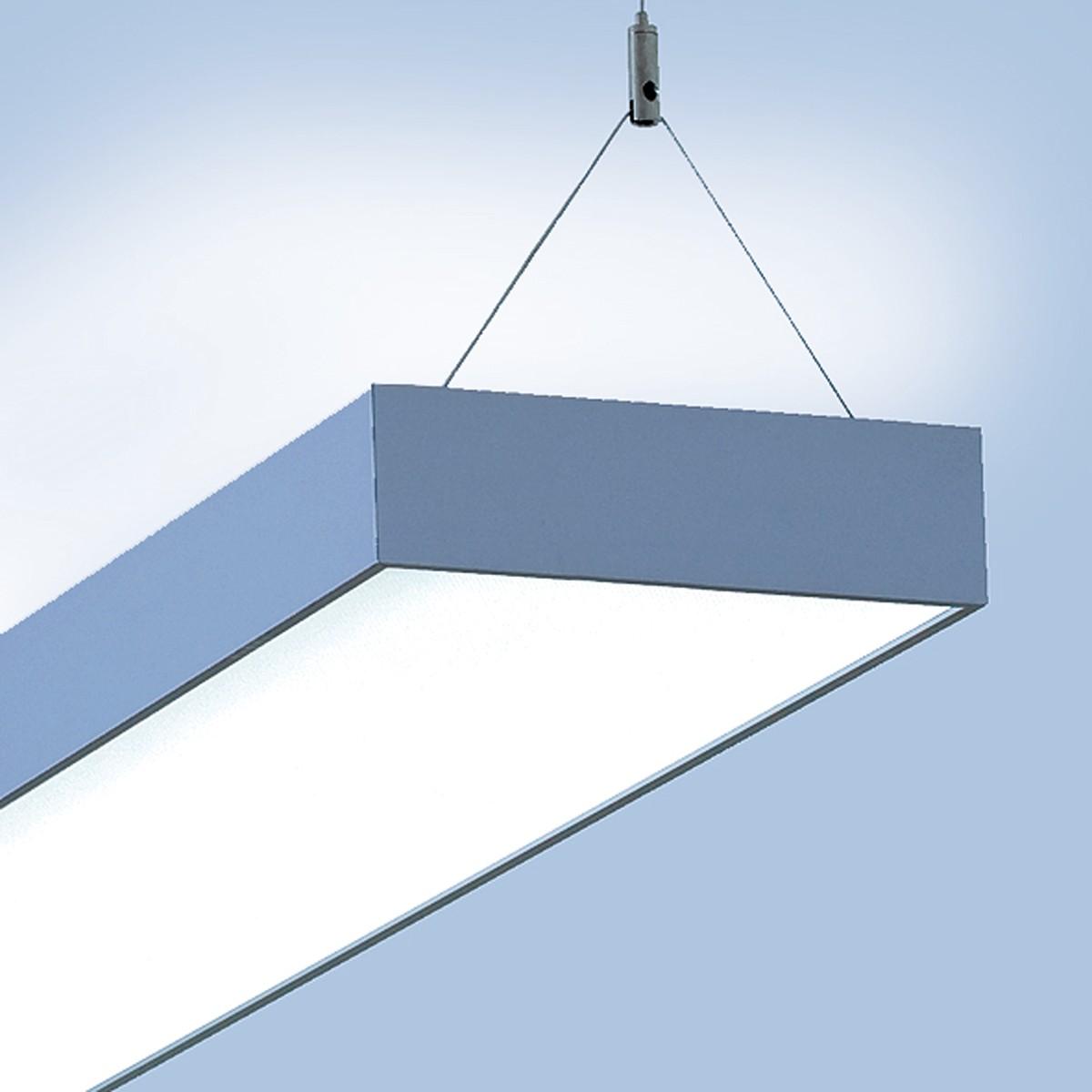 Lightnet Cubic-P1 Pendelleuchte, Länge: 120 cm, Aluminium natureloxiert