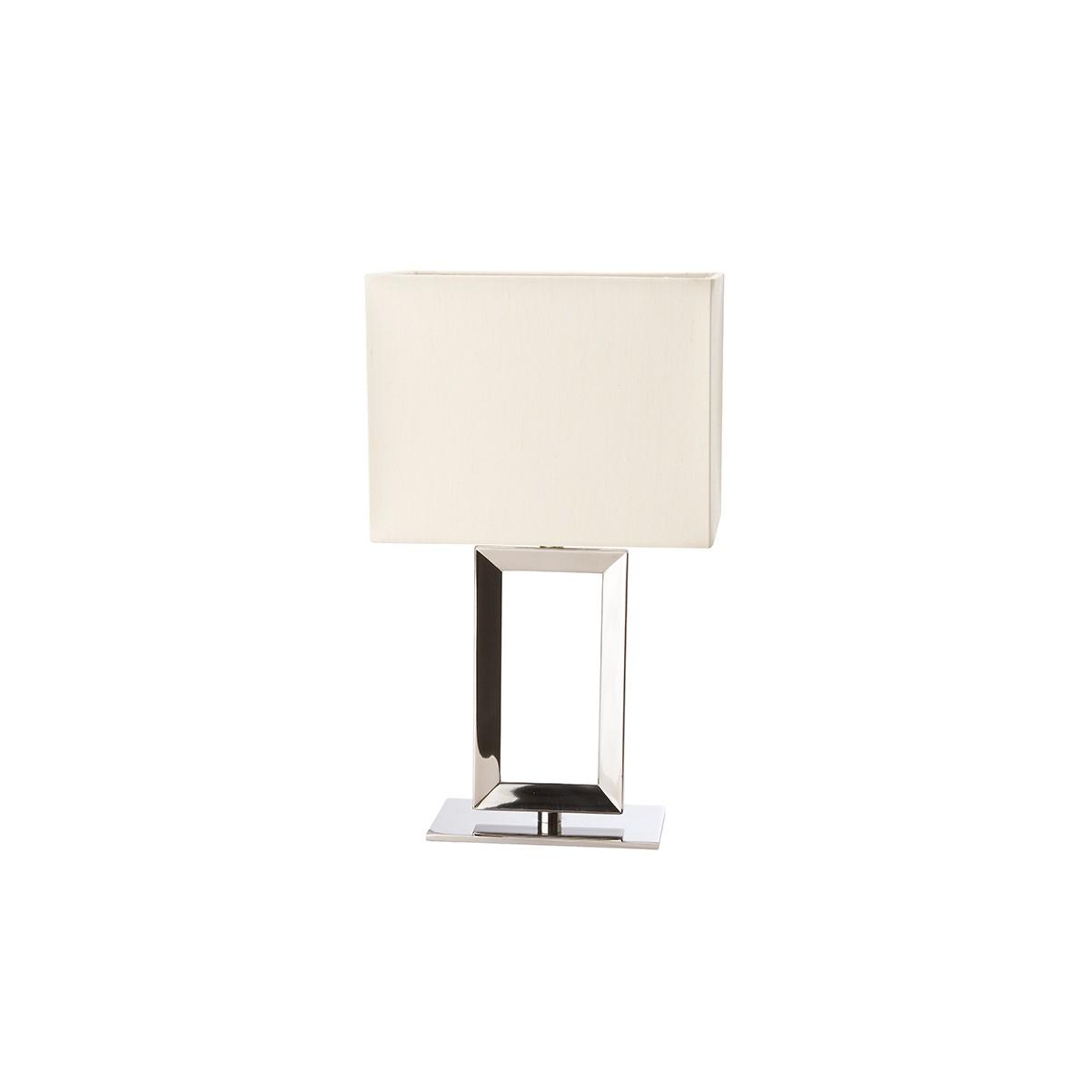 Sompex Pad Tischleuchte, Höhe: 29 cm, Edelstahl poliert - Textil creme