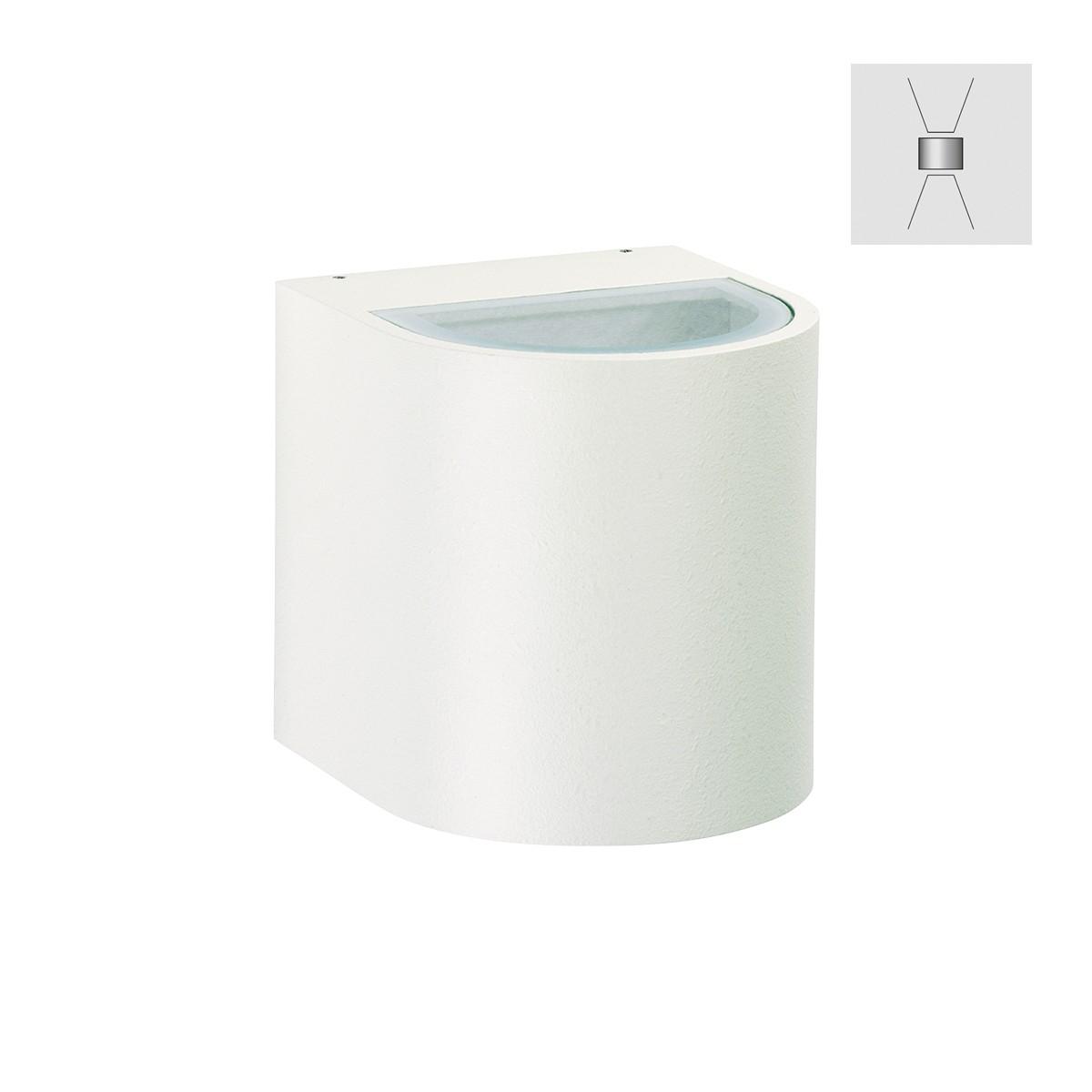 Albert 2402 Wandstrahler, breit/breit, weiß