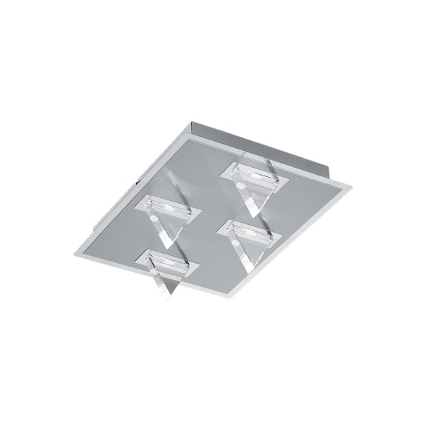 B-Leuchten Kristall Wand- / Deckenleuchte, Chrom