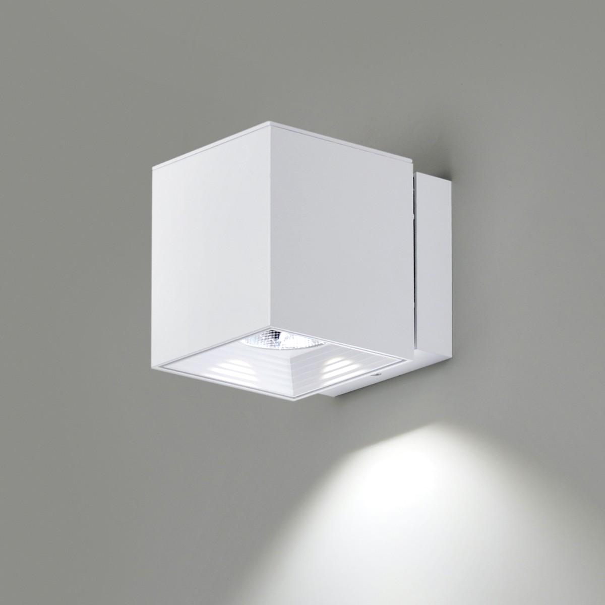 Milan Dau Spot LED Wandleuchte, mattweiß lackiert