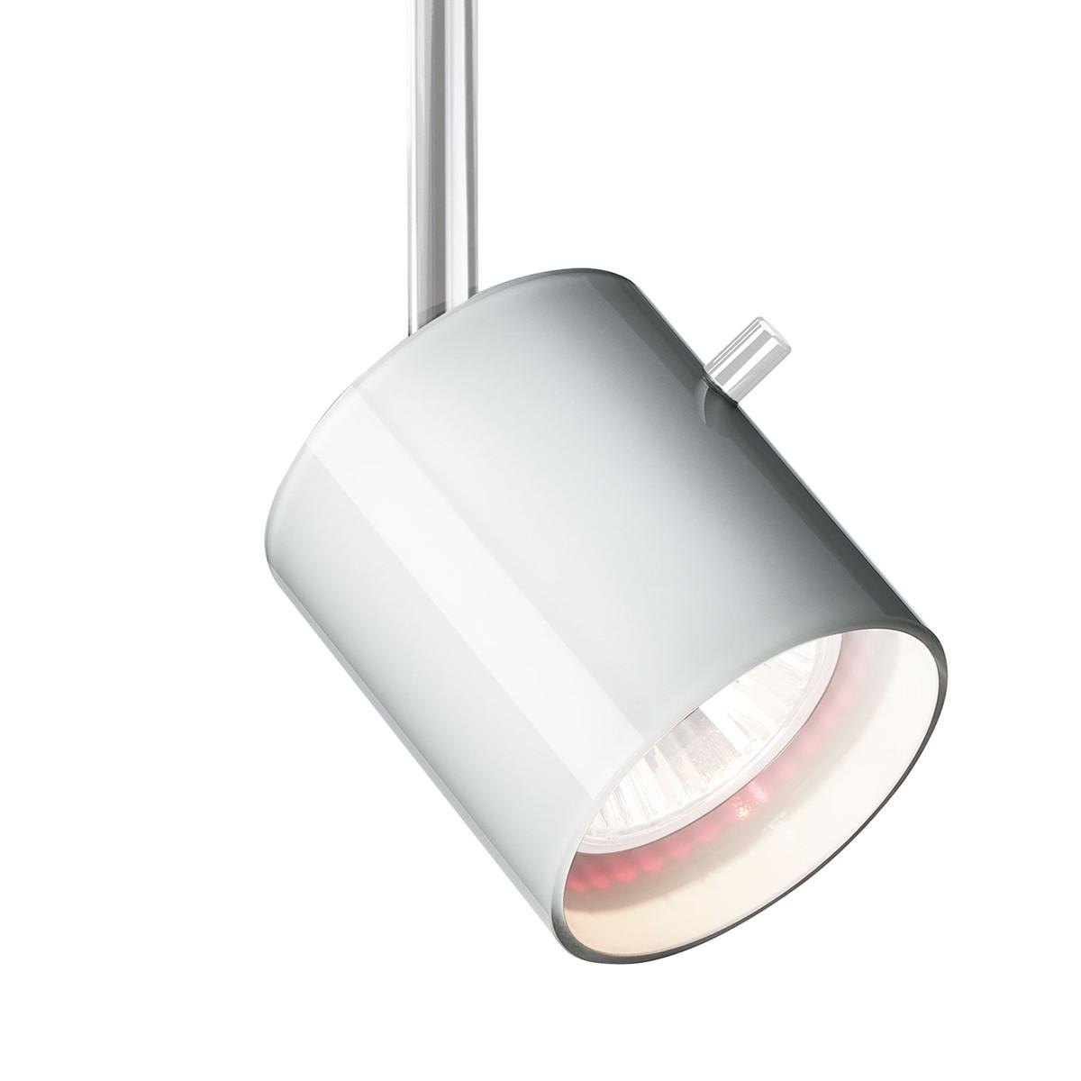 Bruck 800236 Glas Entblendring / Glasring für Strahler, Stift: Chrom / Glas: weiß