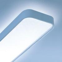 Caleo-X1 Deckenleuchte, Länge: 90 cm, Silber matt