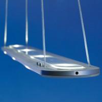Eos Pendelleuchte LED, Länge 120 cm, Aluminium geschliffen, 2700 °K / 2700 °K
