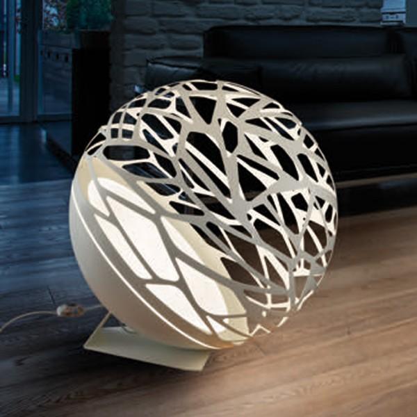 Studio Italia Design Kelly Large Sphere Boden- / Stehleuchte, weiß