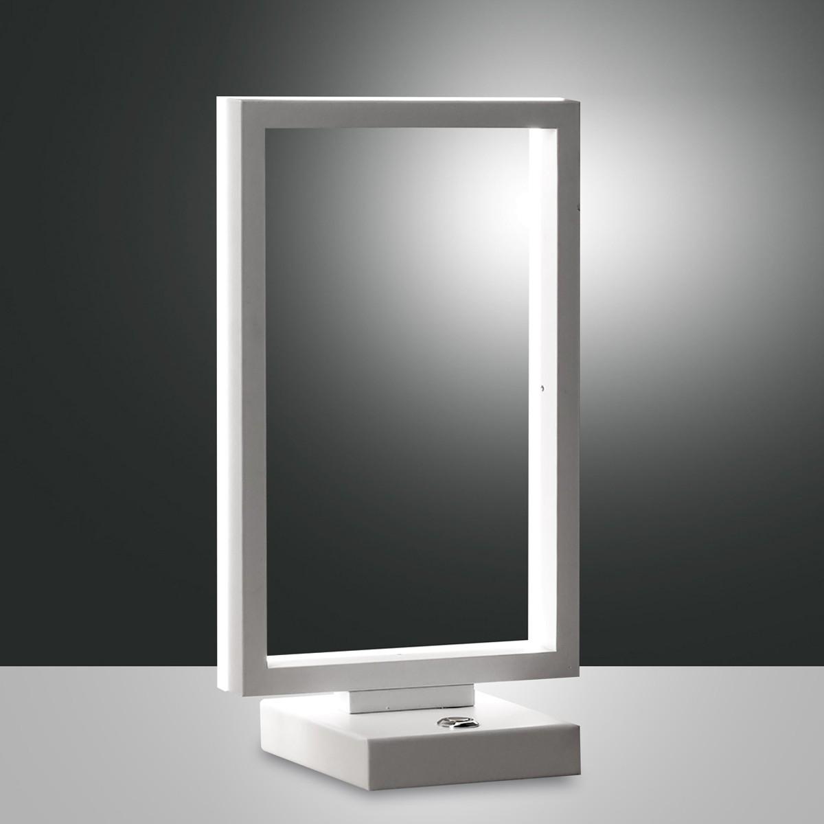 Fabas Luce Bard LED Tischleuchte, weiß