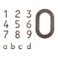 Max Hausnummer braun / Gold, Ziffer 0