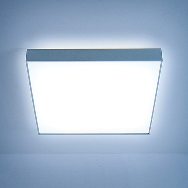 Lightnet Cubic-X2 Wand- / Deckenleuchte, Opal, Aluminium natureloxiert