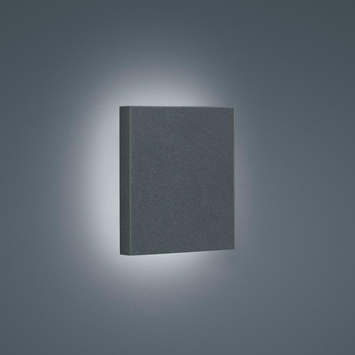 Helestra Air LED Außenwandleuchte, graphit