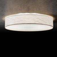 Vita 6 Deckenleuchte, Ø: 80 cm, Chintz Wellenoptik weiß