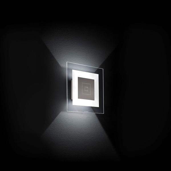 Grossmann Magic LED Wand- / Deckenleuchte, 26,5 x 26,5 cm, Nickel matt