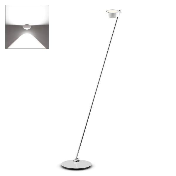 Occhio Sento E LED lettura, 160 cm, 2700 K, Chrom / weiß glänzend, Ausrichtung links