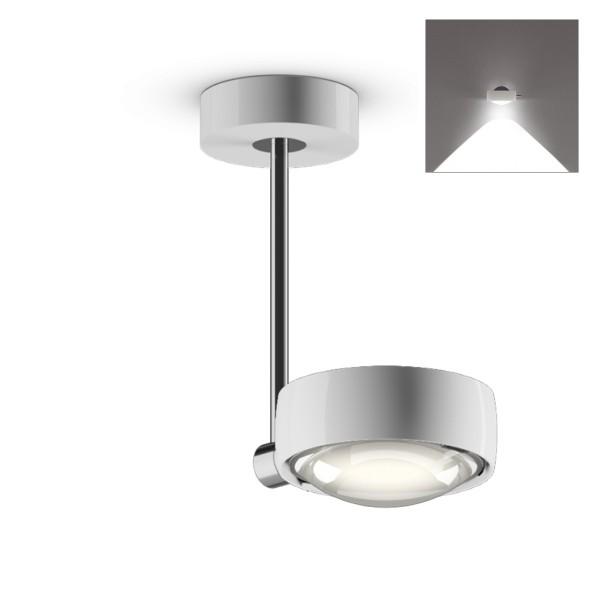 Occhio Sento C LED faro up, 20 cm, Chrom / weiß glänzend