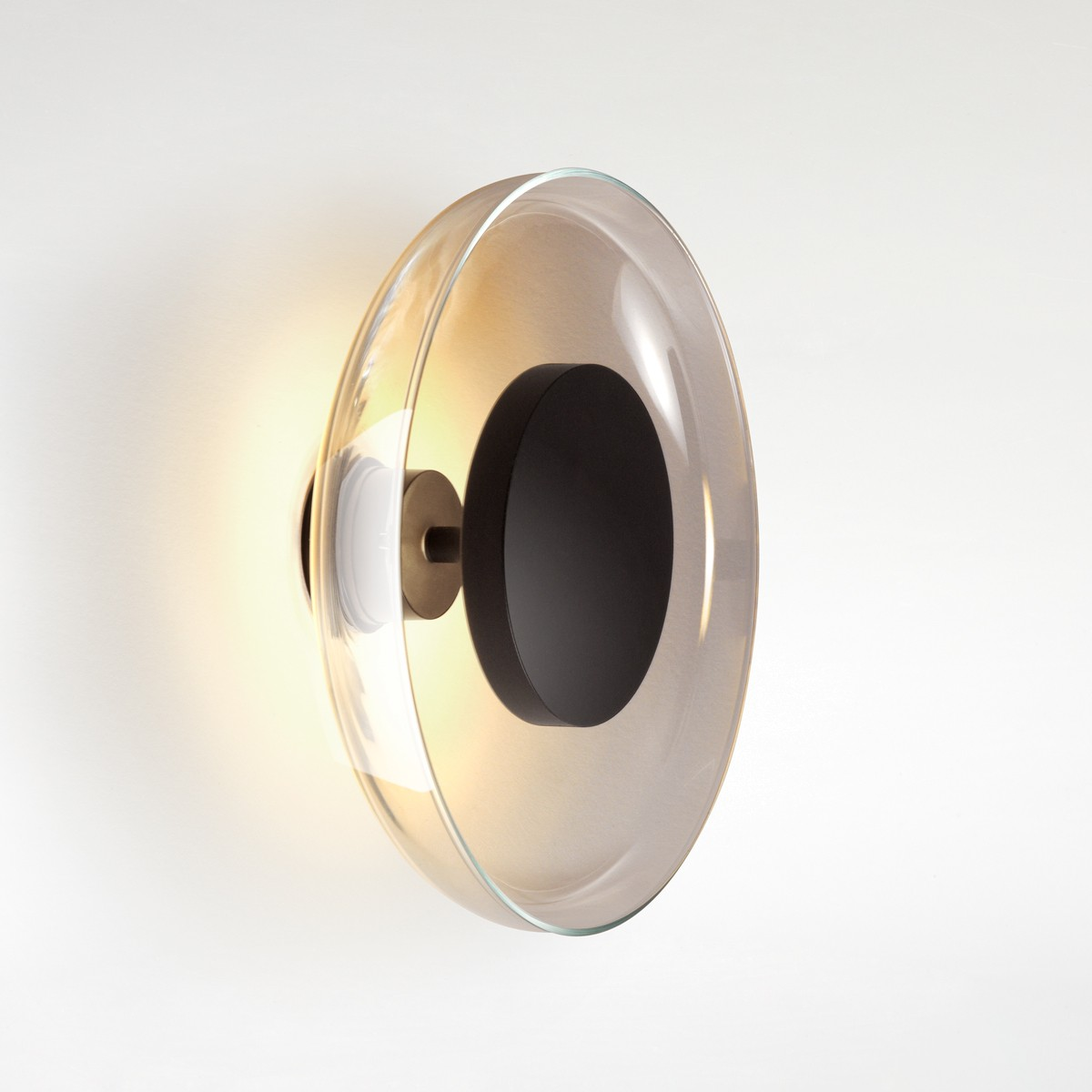 Marset Aura Plus LED Wand- / Deckenleuchte, fumé (Rauchglas)