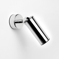 Tub LED Wand- / Deckenstrahler, Edelstahl poliert / schwarz