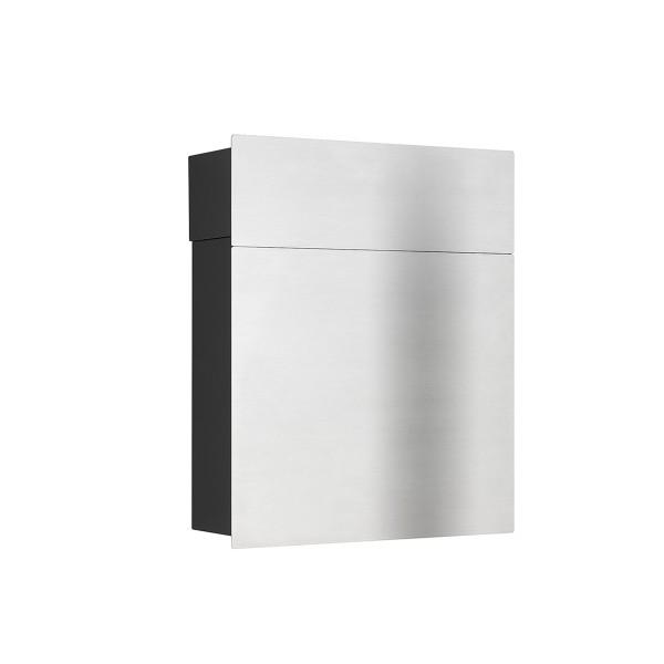 LCD Außenleuchten 3010/3011 Briefkasten, Edelstahl/schwarz, geschlossen