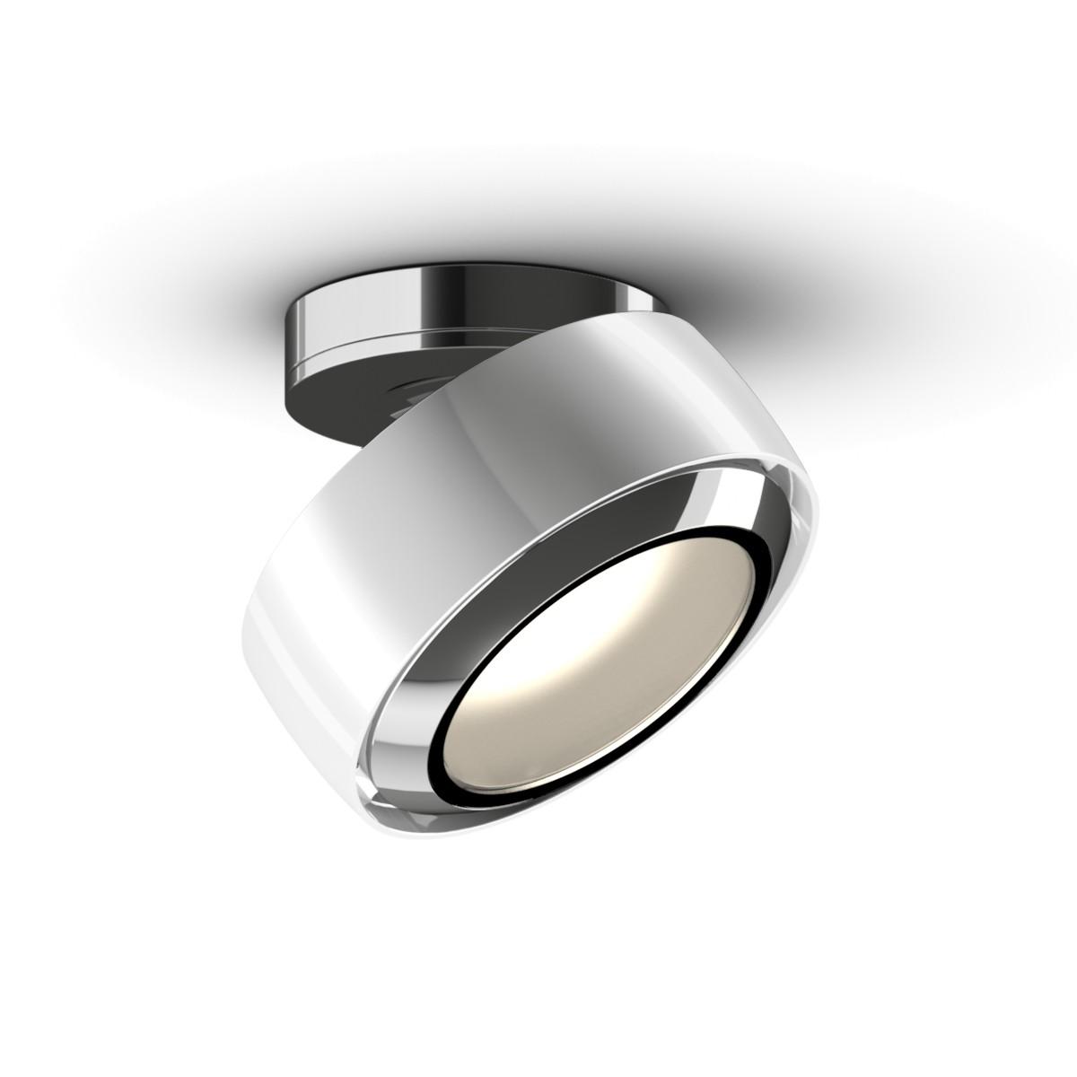Occhio Più R alto Volt C80 Deckenstrahler, 2700 K, weiß glänzend / Chrom