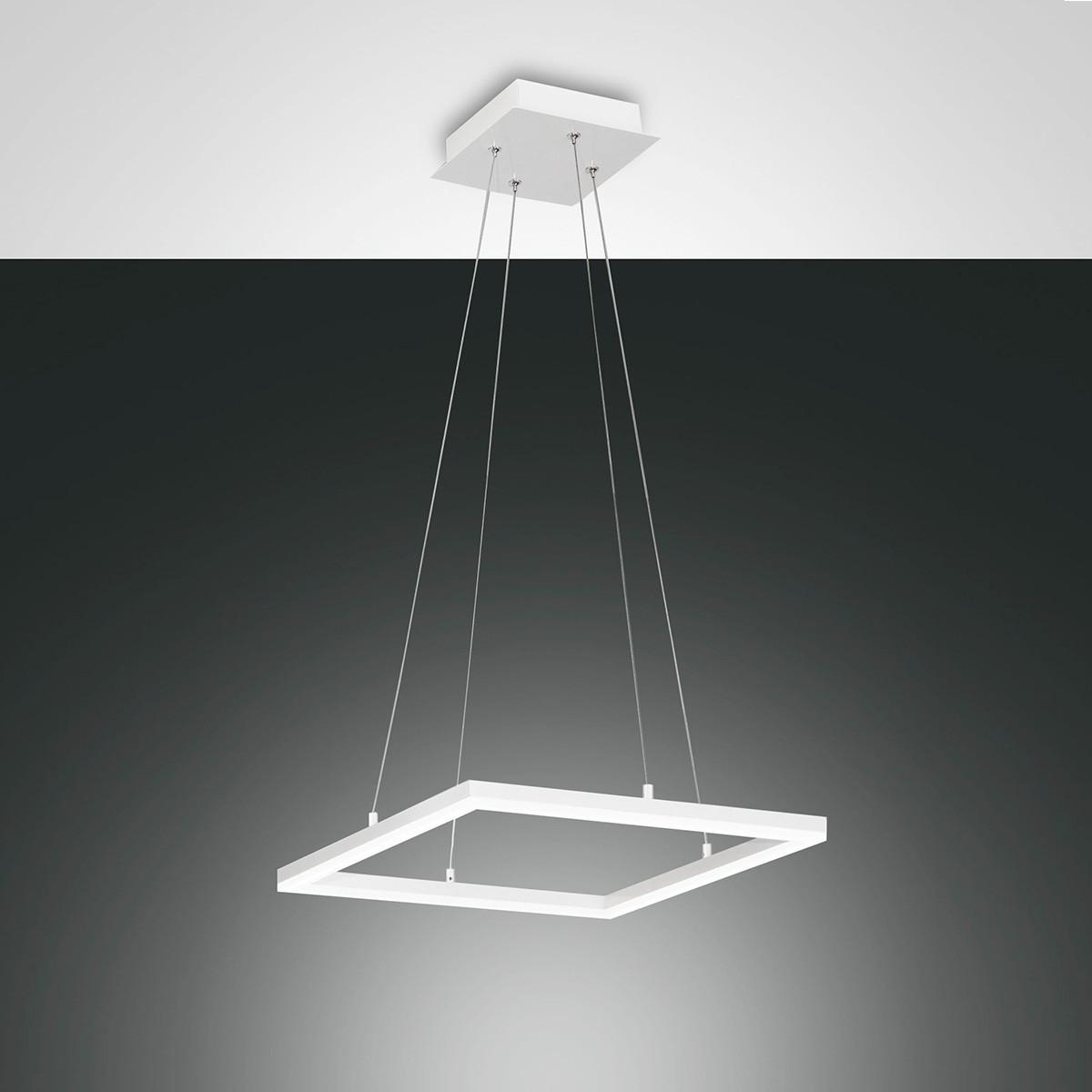 Fabas Luce Bard LED Pendelleuchte, quadratisch, weiß