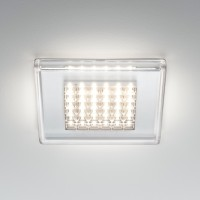 Quadriled Deckeneinbauleuchte LED, transparent