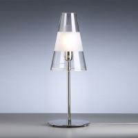 TLWS 03 Tischleuchte, Gestell: Nickel, Glas: Klarglas mit mattem Ring