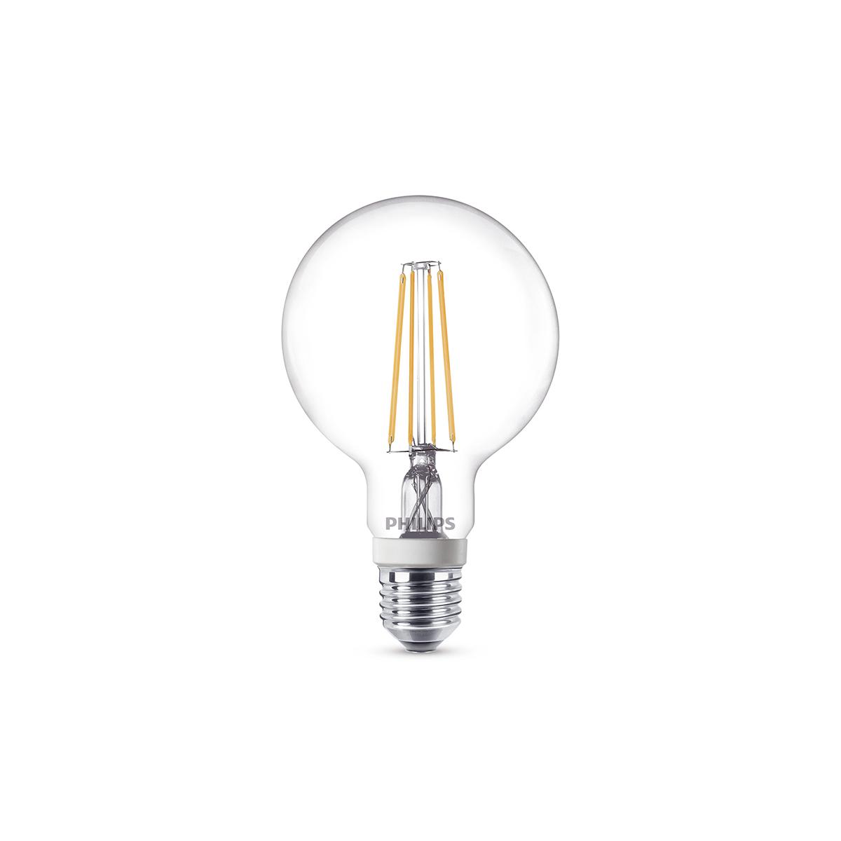 philips leuchtmittel led globe e27 7 w warmwei dimmbar. Black Bedroom Furniture Sets. Home Design Ideas