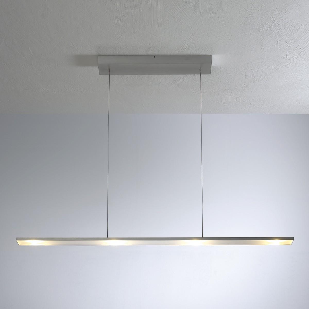 Bopp LEDs Go Pendelleuchte 4-flg., Aluminium geschliffen, extern dimmbar