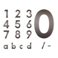 Midi Hausnummer mokkabraun, Ziffer 0