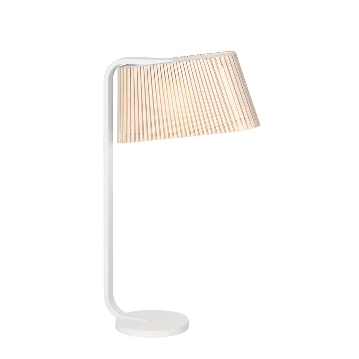 Secto Design Owalo 7020 Tischleuchte, weiß, Schirm: Birke natur