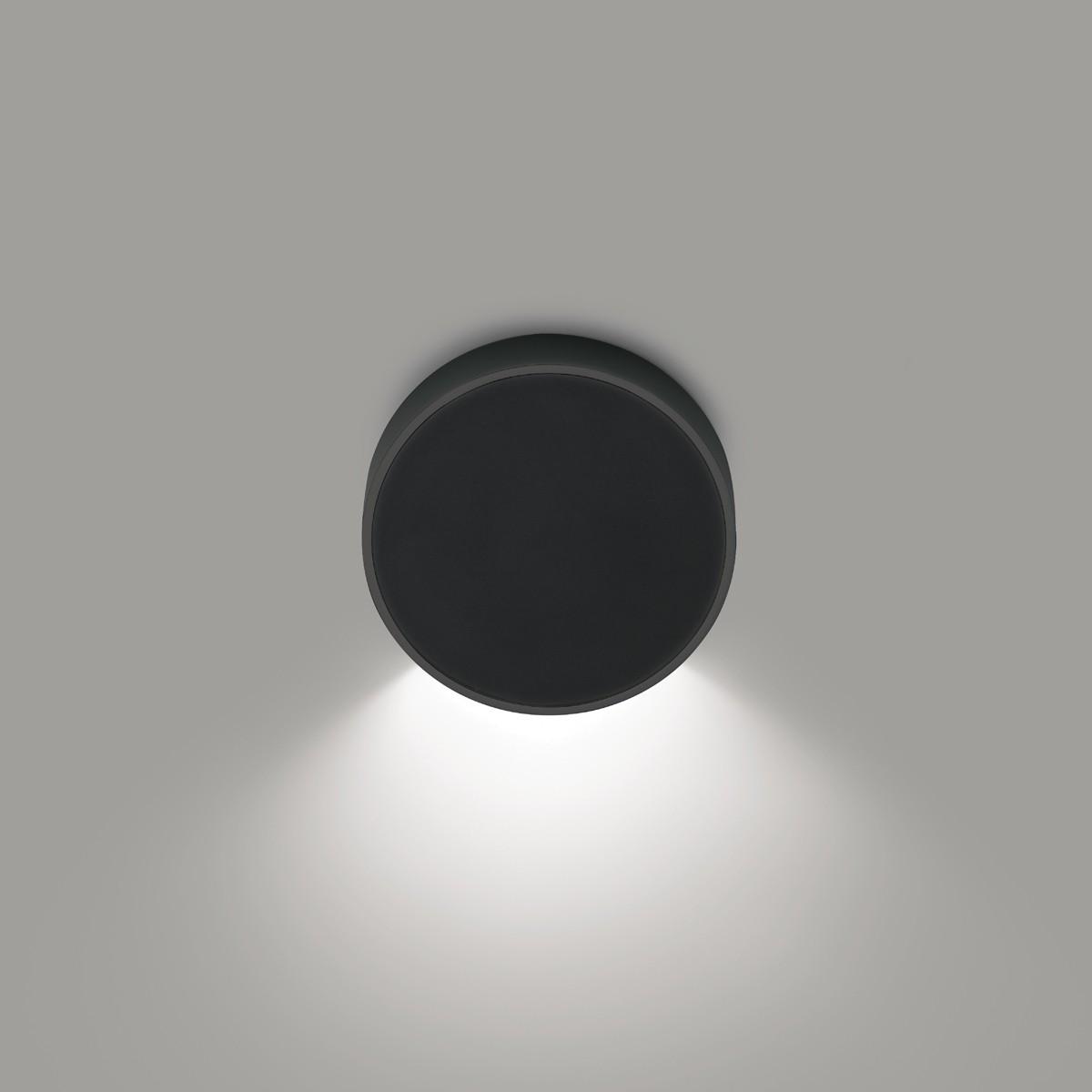 Vibia Alpha 7920 Wandleuchte, graphitgrau matt, Front: schwarz