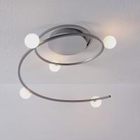 Loop Deckenleuchte, Aluminium / Glas opal, extern dimmbar