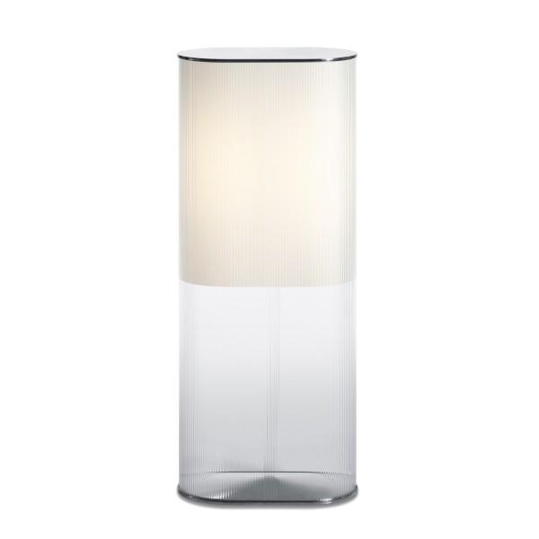Belux Leia-18 Tisch- / Bodenleuchte, satiniert/transparent