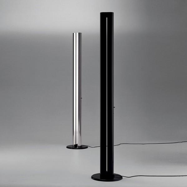 Artemide Megaron Terra LED, Alu glänzend, und Megaron Terra LED, schwarz