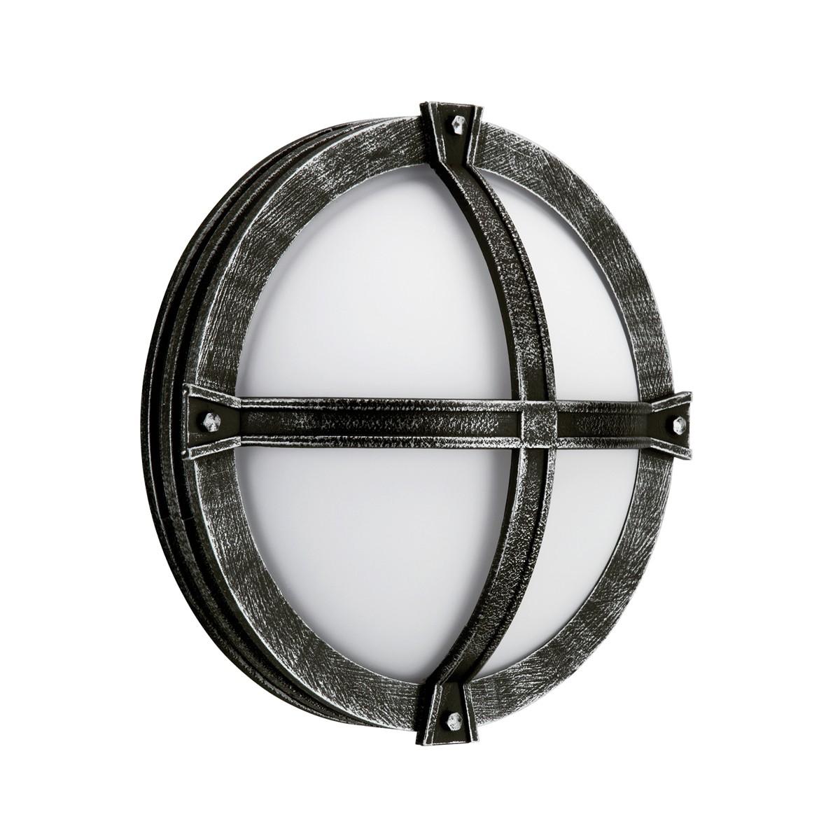 Albert 6230 Außenwandleuchte, schwarz-silber