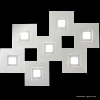 Karree Wand- / Deckenleuchte, 7-flg., perlglanz - titan
