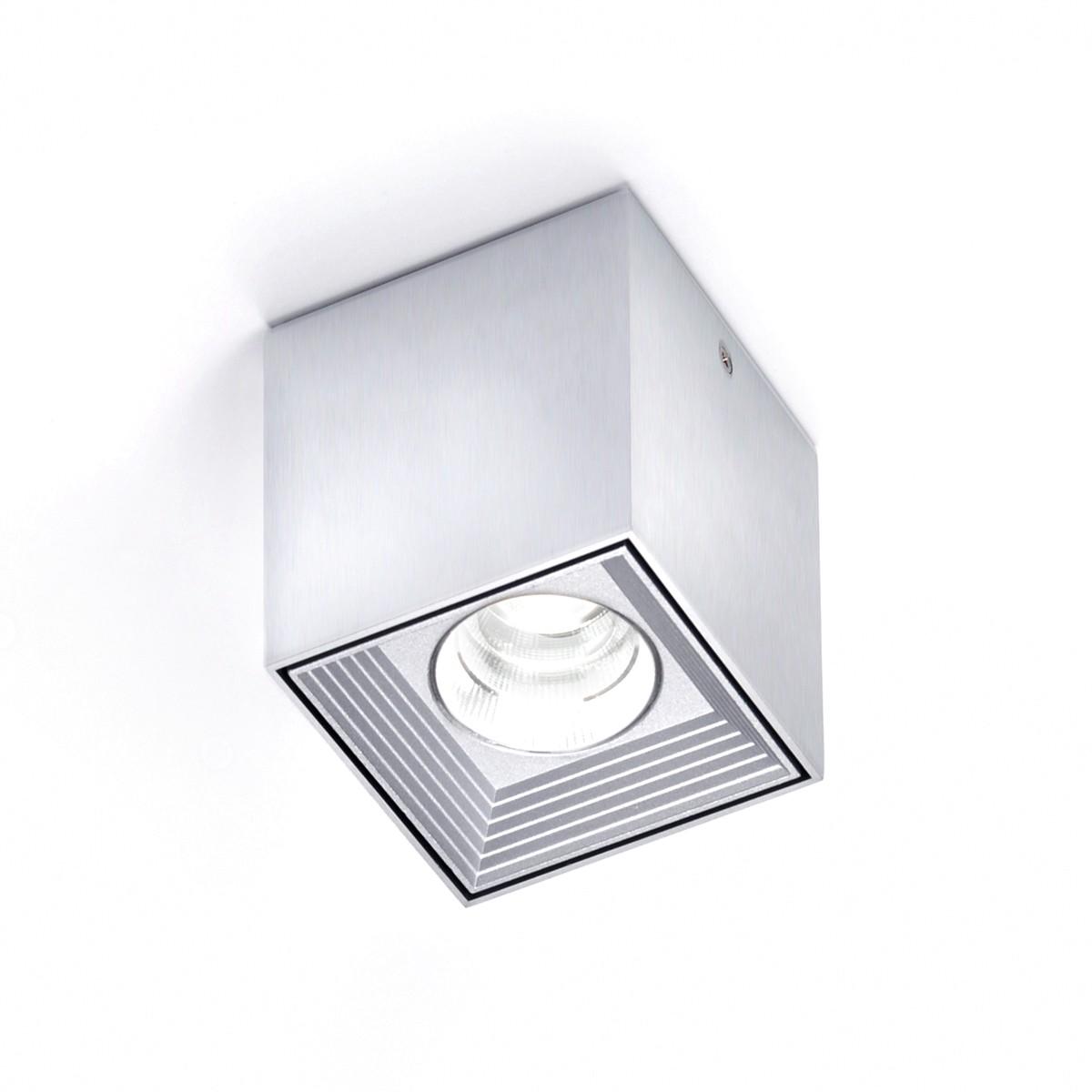 Milan Dau Spot LED Deckenstrahler, 1. Generation, Aluminium gebürstet