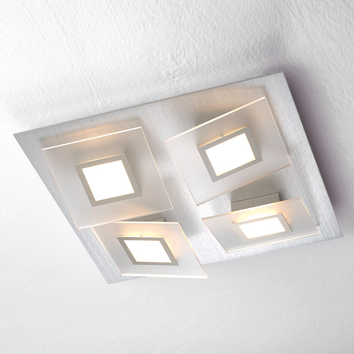 Bopp Frame LED Wand- / Deckenleuchte 4-flg. quadratisch, Aluminium