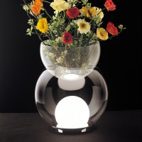 Giova Tischleuchte, Höhe: 37 cm, Glas