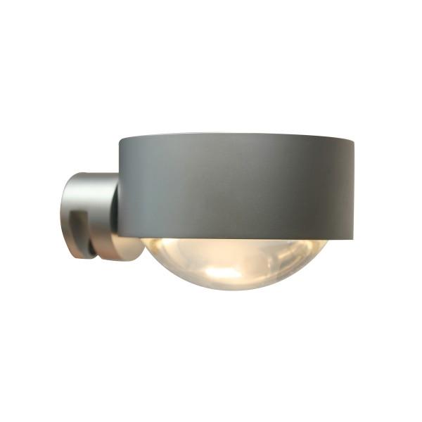 Top Light Puk Fix LED Klemmleuchte, Chrom matt, Linse klar / Glas satiniert