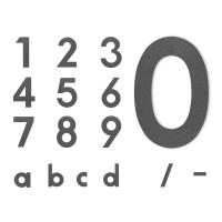 Midi Hausnummer grafitgrau, Ziffer 0