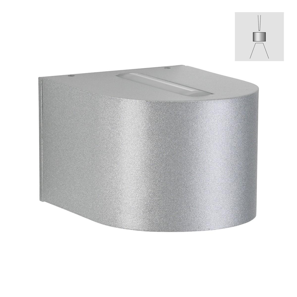 Albert 2339 Wandstrahler, eng/breit, Silber