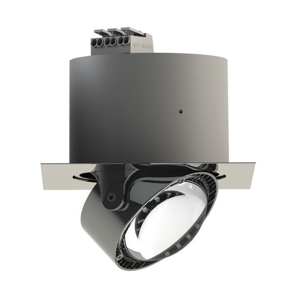 Top Light Puk Inside LED Deckeneinbauleuchte, quadratisch, Chrom, Linse klar
