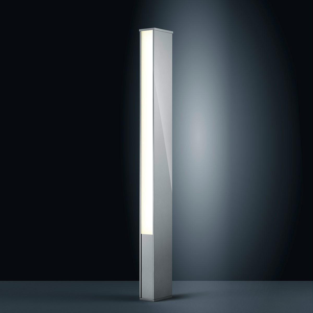 Helestra Tendo LED Außenstehleuchte, silbergrau