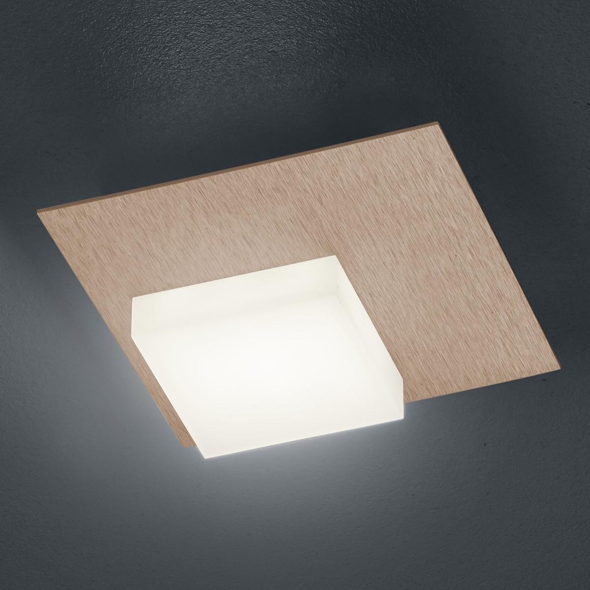 Bankamp Cube Wand- / Deckenleuchte, Roségold eloxiert