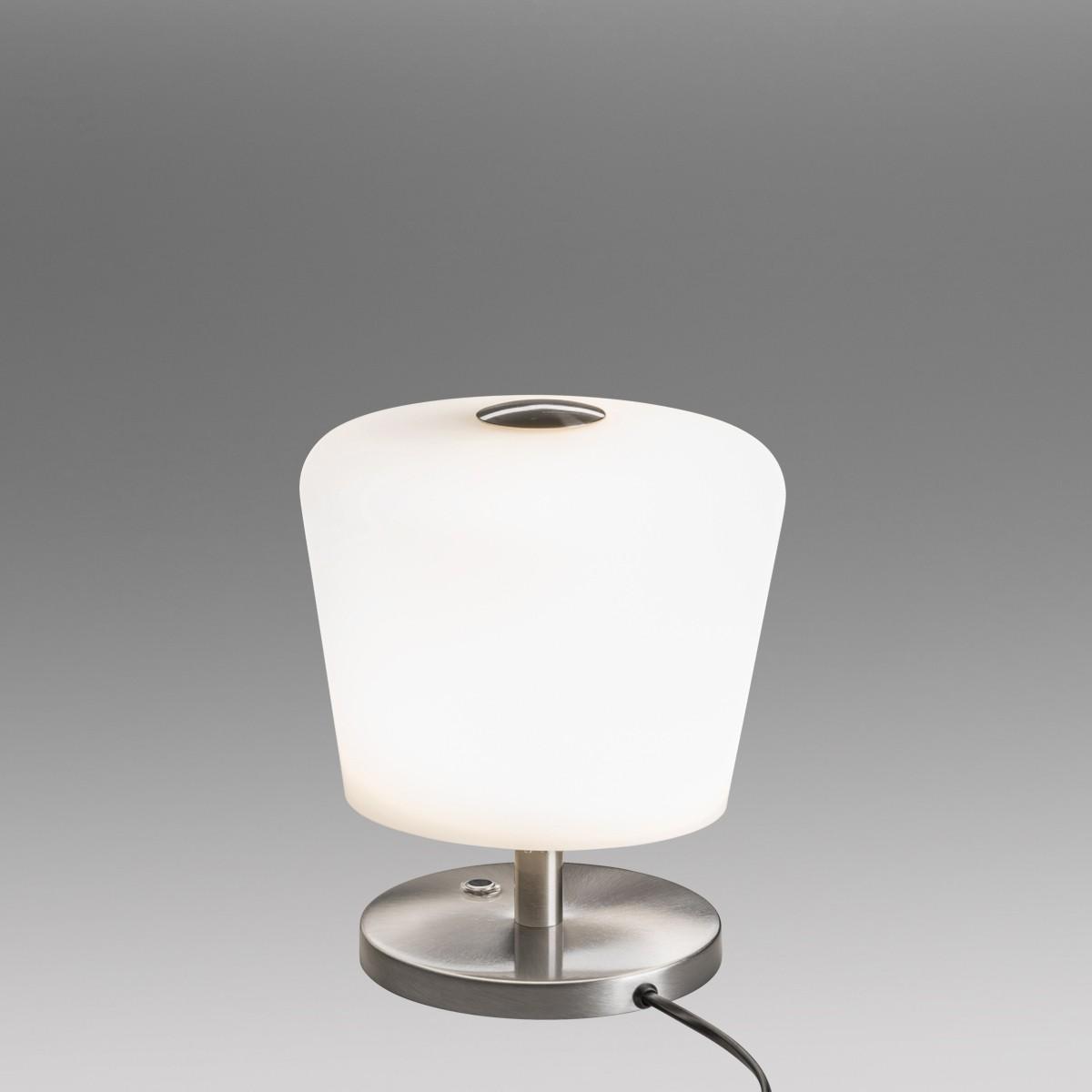 Lupia Licht Touch Tischleuchte, Höhe: 22 cm, Nickel matt