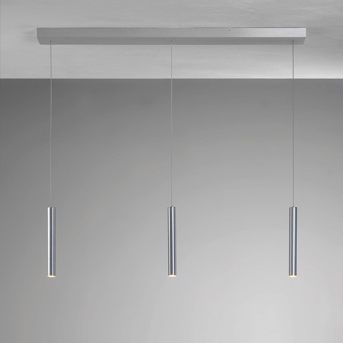 Bopp Plus LED Pendelleuchte, 3-flg., mit Casambi Modul, Aluminium geschliffen