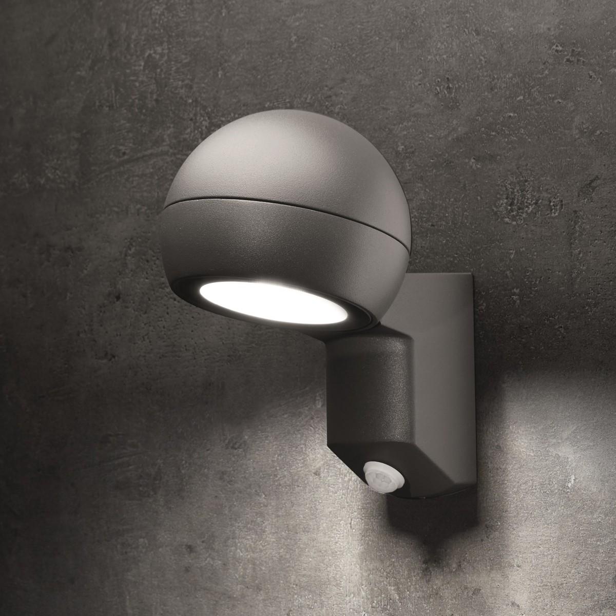 Lupia Licht Testa Außenwandleuchte, mit Sensor, anthrazit