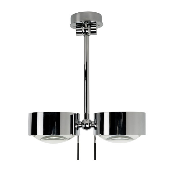 Top Light Puk Maxx Wing Twin LED, 20 cm, Chrom, Glas satiniert / Linse klar